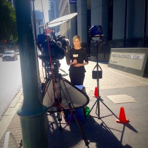 Jillian knows all about the media as she is a journalist who reports for Sunrise
